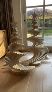 Trendy design houten kerstboom
